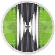 Seismic Rug Round Beach Towel