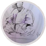 Seiza Round Beach Towel