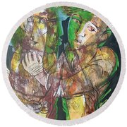 Self And Other Round Beach Towel