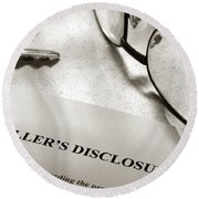 Seller Property Disclosure Round Beach Towel