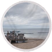 Sellin Pier Round Beach Towel
