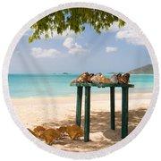 Selling Shells Round Beach Towel