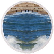 Selsey Mirrored Round Beach Towel