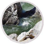 Selway Falls Bowl Round Beach Towel