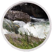 Selway Falls Round Beach Towel
