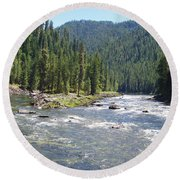 Selway River Round Beach Towel