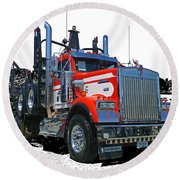 Semi Trucks Catr3120-13 Round Beach Towel