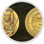 Seminole Nation Code Talkers Bronze Medal Art Round Beach Towel