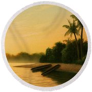Seminole Sunset Round Beach Towel