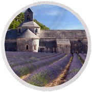 Senanque Abbey Round Beach Towel