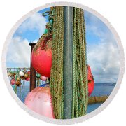 Sennen Cove Buoys Round Beach Towel