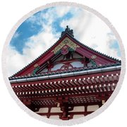 Sensoji Temple Round Beach Towel