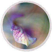 Sensual Touch Of Exotic. Orchid I Round Beach Towel
