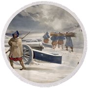 Sentinel Of The Zouaves, Plate From The Round Beach Towel