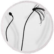Separate Growth  Round Beach Towel