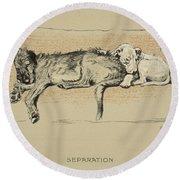 Separation, 1930, 1st Edition Round Beach Towel