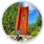 September 11th Memorial Mantua N J Round Beach Towel