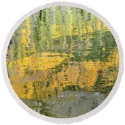 September Reflection Round Beach Towel