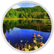 September Reflections Round Beach Towel