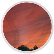 September Sunsets Round Beach Towel