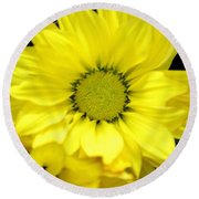 September Yellow Round Beach Towel