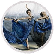 Sequential Dancer Round Beach Towel