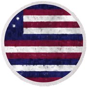 Serapis Flag Round Beach Towel by World Art Prints And Designs