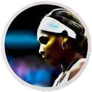 Serena Williams Focus Round Beach Towel