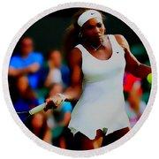 Serena Williams Making It Look Easy Round Beach Towel