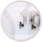 Serene Moments Round Beach Towel by Karol Livote