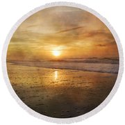 Serene Outlook  Round Beach Towel by Betsy Knapp