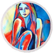 Serene Thoughts Round Beach Towel
