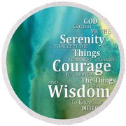 Serenity Prayer 2 - By Sharon Cummings Round Beach Towel