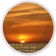 Serenity Sunset Round Beach Towel