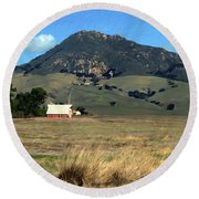 Serenity Under Bishops Peak Round Beach Towel