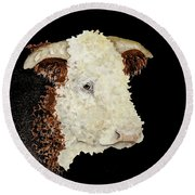 Sergeant Major A Hereford Bull Round Beach Towel