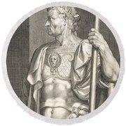 Sergius Galba Emperor Of Rome  Round Beach Towel by Titian