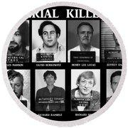 Serial Killers - Public Enemies Round Beach Towel