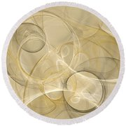 Series Abstract Art In Earth Tones 4 Round Beach Towel