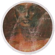 Serious Bride Mirage  Round Beach Towel
