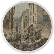 Serious Troubles In Italy Riots Round Beach Towel