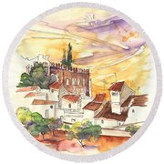 Serpa  Portugal 27 Round Beach Towel