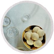 Sesame Cookies Round Beach Towel