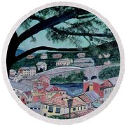 Sestri Levante Round Beach Towel