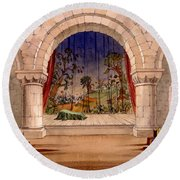 Set Design For Hamlet By William Round Beach Towel