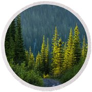 Set Down Your Coffee And Follow Me - 140702a-098 Round Beach Towel