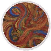 Set To Music - Original Abstract Painting Painting - Affordable Art Round Beach Towel