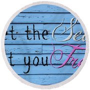 Set You Free Round Beach Towel