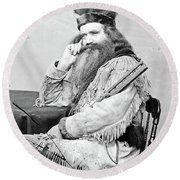 Seth Kinman (1815-1888) Round Beach Towel