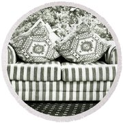 Settee Round Beach Towel